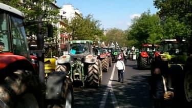 """Les agriculteurs veulent opérer """"un blocus"""" à Paris."""