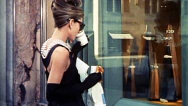 Audrey Hepburn dans Breakfast at Tiffany's.