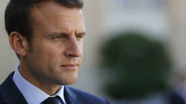Emmanuel Macron à l'Élysée le 8 juin 2017