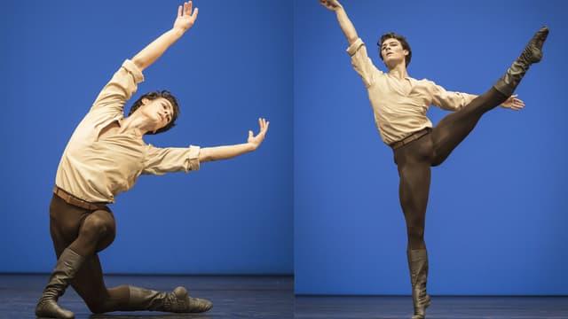 Hugo Marchand, promu premier danseur au concours interne du ballet de Paris, le vendredi 6 novembre, à l'Opéra de Paris.