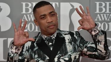 Le rappeur britannique Wiley, aux Brit Awards en février 2017 à Londres.