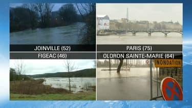 Une vingtaine de départements sont en alerte orange pour risque d'inondations lundi.