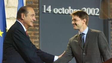 François Baroin et Jacques Chirac