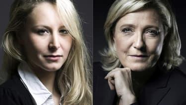 Marion Maréchal-Le Pen et Marine Le Pen