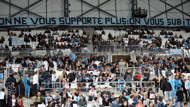 Les supporters marseillais de moins en moins nombreux au Vélodrome