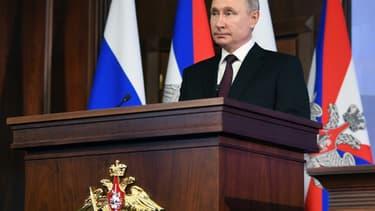 Le président russe Vladimir Poutine, le 21 décembre 2020 à Moscou