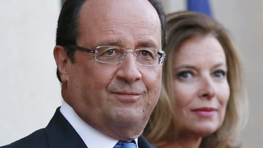 François Hollande et Valérie Trierweiler à l'Elysée le 3 septembre 2013.