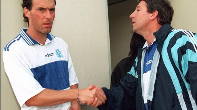 Laurent Blanc et Rolland Courbis à l'OM en 1997
