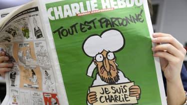 Le numéro de Charlie Hebdo réalisé après les attentats affichait une caricature du prophète Mahomet en Une.