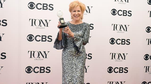 Bette Middler à New York le 11 juin 2017 à l'occasion des Tony Awards