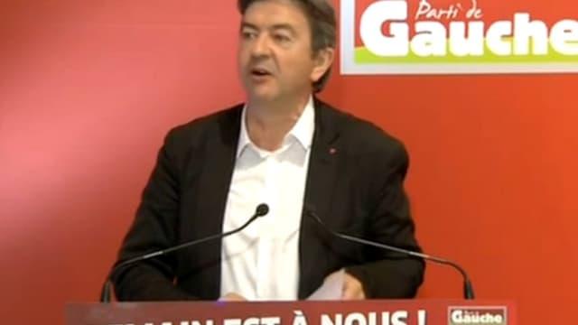 Jean-Luc Mélenchon a critiqué fortement François Hollande ce dimanche à Grenoble.
