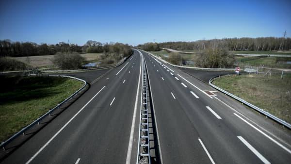 L'autoroute A5 au niveau de l'Isle-Aumont (Aube), photo prise le 23 mars, 7e jour de confinement en France.