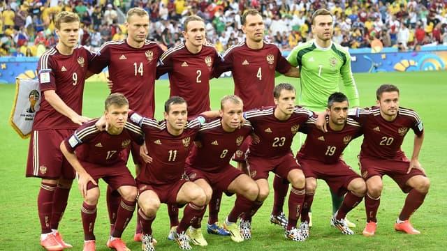 La sélection russe face à l'Algérie lors de la Coupe du monde 2014