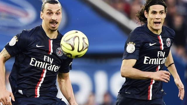 Ibrahimovic et Cavani ont assuré le show face à Guingamp