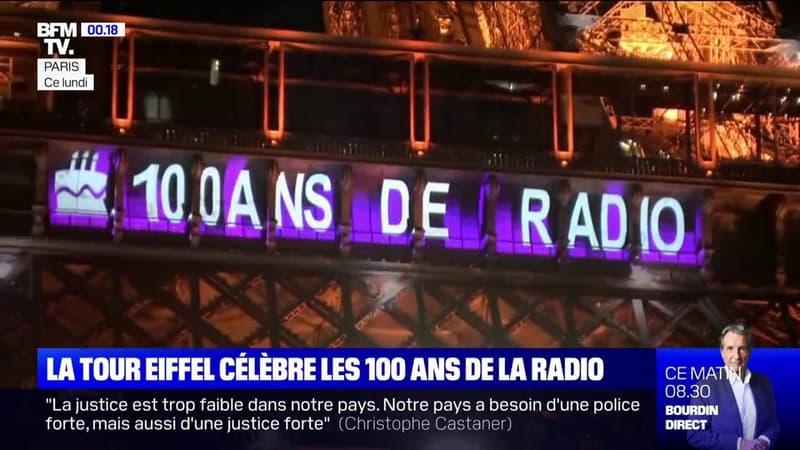 La Tour Eiffel fête les 100 ans de la radio