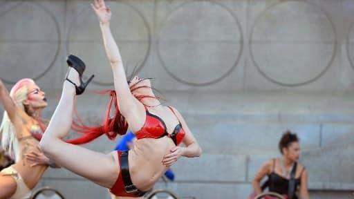 Des artistes du Cirque du Soleil à Las Vegas le 26 février 2015