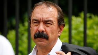 Philippe Martinez, le secrétaire général de la CGT, ce vendredi à Villiers le Bel.
