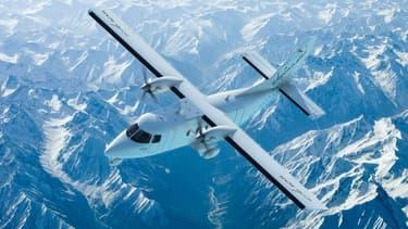 Image virtuelle du Skylander. La société Sky Aircraft, qui développait depuis 2009 en Lorraine cet avion biturbopropulseur capable d'emporter 19 passagers ou trois tonnes de fret, a été mise en liquidation judiciaire mardi. /Image d'archives/REUTERS/GECI