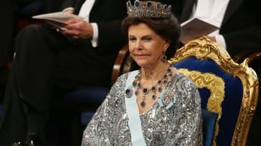 La reine Silvia à Stockholm le 10 décembre 2016