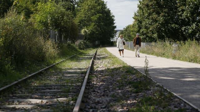 La Petite ceinture, ancienne voie ferroviaire a été en partie transformée en promenade.