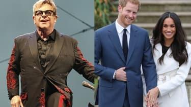 Elton John, le prince Harry et Meghan Markle