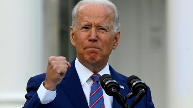 Le président américain Joe Biden s'exprime à l'occasion de la fête nationale à la Maison Blanche, le 4 juillet 2021