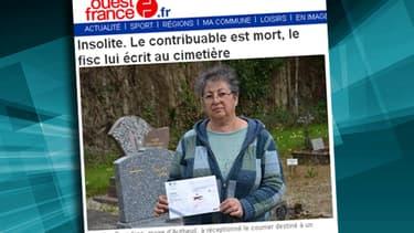 Le maire d'Autheuil, Béatrice Devedjian, refuse d'ouvrir la lettre: ce sera aux descendants du destinataire d'en prendre connaissance.