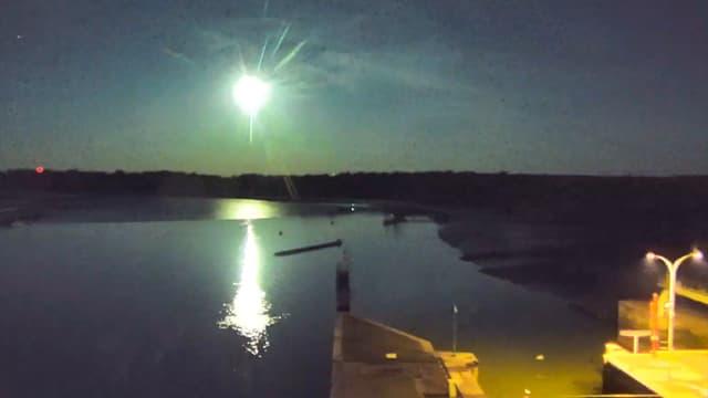 Photo de la météore depuis Damgan dans le Morbihan (Bretagne)