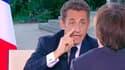 Nicolas Sarkozy, lors d'une émission spéciale sur France 2 à la veille de la présentation d'un projet de loi sur la refonte des retraites