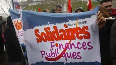 Une manifestation d'agents des finances publiques (photo d'illustration)