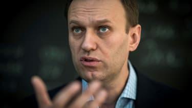 L'opposant russe Alexeï Navalny lors d'un entretien avec l'AFP à Moscou, le 16 janvier 2018