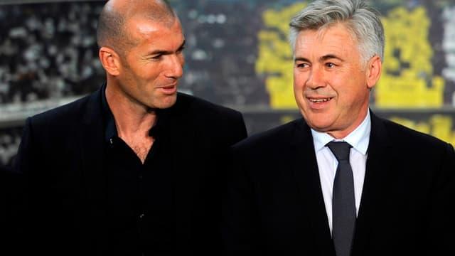 Carlo Ancelotti et Zinédine Zidane