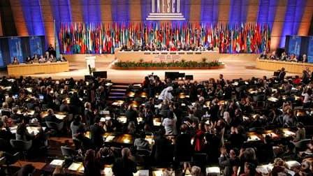 Les Etats-Unis ont décidé de suspendre leur contribution financière au budget de l'Unesco, après l'admission de l'Autorité palestinienne en tant que membre à part entière de l'organisation. /Photo prise le 31 octobre 2011/REUTERS/Benoît Tessier