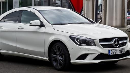 Certains véhicules Mercedes, comme le dernier modèle CLA, sont interdits à l'immatriculation en France.