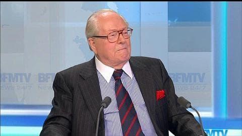 """Jean-Marie Le Pen: """"Si on veut supprimer la notion de président d'honneur, il faut le faire dans un congrès"""""""
