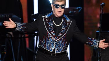 Elton John aux Grammy Awards, le 28 janvier 2018 à New York