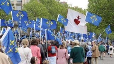 Des militants de Civitas lors d'une manifestation à Paris - Image d'illustration