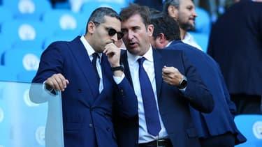 Khaldoon Al Mubarak et Ferran Soriano en pleine discussion