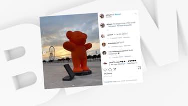 Un ours géant de l'artiste Jayet