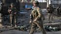 Des soldats afghans àç Kabul lors d'une attaque en mai 2012.