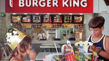 Un restaurant Burger King israélien en 1999, avant que la franchise ne fasse faillite.