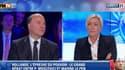 Pierre Moscovici a débattu avec Marine Le Pen, lundi soir, sur BFMTV.