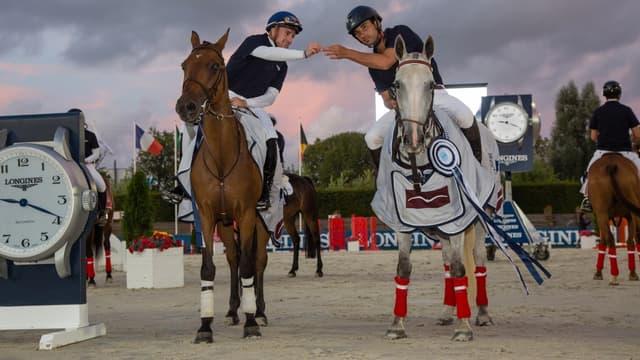 Théo Bachelot et Astier Nicolas, vainqueurs du Longines Equestrian Challenge Normandie 2019