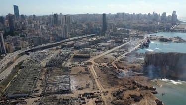 Ces nouvelles images aériennes montrent l'ampleur des dégâts sur le port de Beyrouth