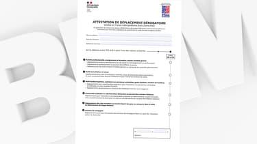 La nouvelle attestation de déplacement pour le couvre-feu, mise en ligne le 2 mai 2021 sur le site du ministère de l'Intérieur.