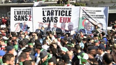 Manifestation contre la candidature d'Abdelaziz Bouteflika à Alger le 29 mars 2019