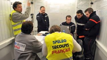Des sauveteurs de Spéléo secours français (SSF), le 26 décembre 2009. (Photo d'illustration)