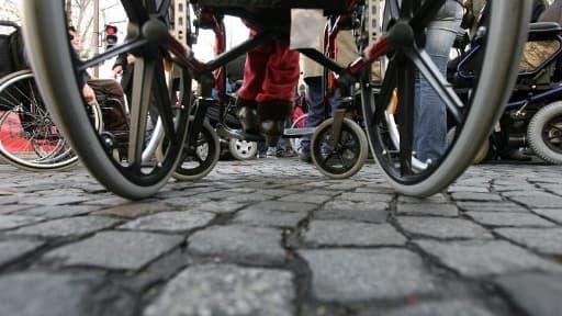 Un fauteuil roulant - Image d'illustration