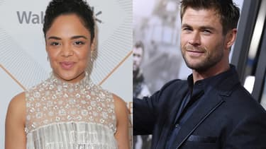 "Tessa Thompson et Chris Hemsworth, stars du reboot de ""Men in Black"""