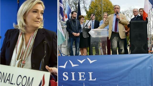 Marine Le Pen et Karim Ouchikh, président du Siel.